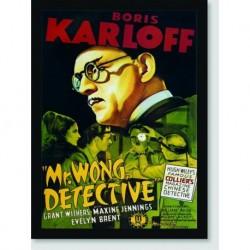 Quadro Poster Filme Mr Wong Detective