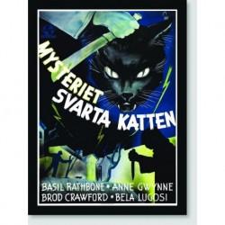 Quadro Poster Filme Mysteriet Svarta Katten