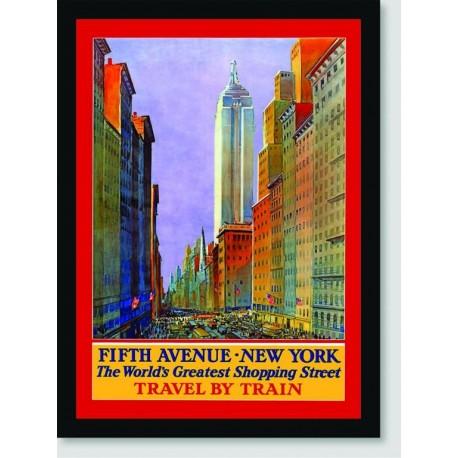 Quadro Poster Propaganda Fifth Avenue New York