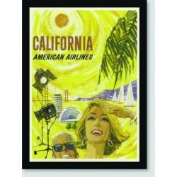 Quadro Poster Propaganda California Fly American Airlines