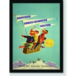 Quadro Poster Propaganda Bayerische Alpen