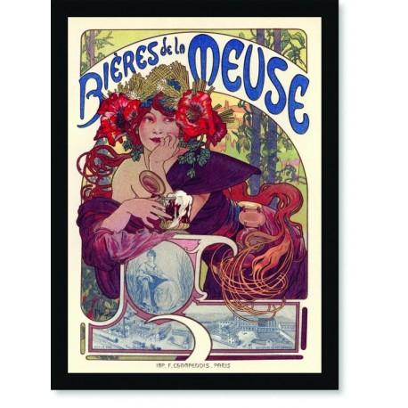 Quadro Poster The Belle Epoque Bieres Meuse