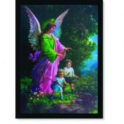 Quadro Poster Catolico Anjo da Guarda