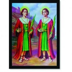 Quadro Poster Catolico São Cosme e Damião