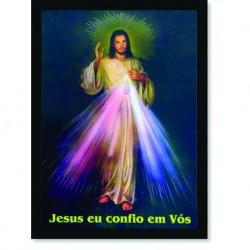 Quadro Poster Catolico Jesus eu Confio