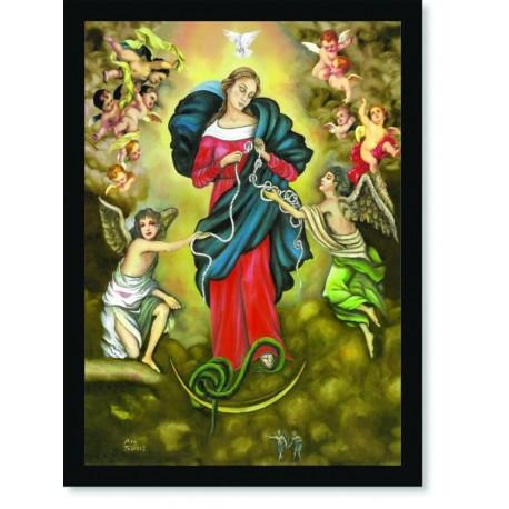 Quadro Poster Catolico Nossa Senhora Desatadora dos Nós