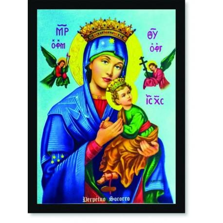 Quadro Poster Catolico Nossa Senhora Perpetuo Socorro