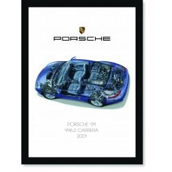 Quadro Poster Porsche 911 2001 996 Carrera 4S