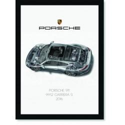 Quadro Poster Porsche 911 2016 991 Carrera S