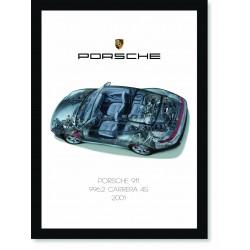 Quadro Poster Porsche 911 2001 996 Carrera