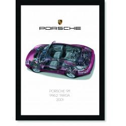 Quadro Poster Porsche 911 2001 996 Targa