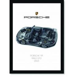 Quadro Poster Porsche 911 2003 996 GT2