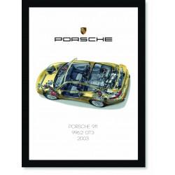 Quadro Poster Porsche 911 2003 996 GT3