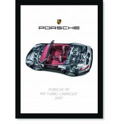 Quadro Poster Porsche 911 2007 997 Turbo Cabriolet