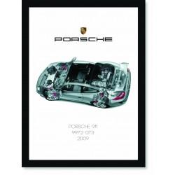 Quadro Poster Porsche 911 2009 997 GT3