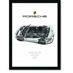 Quadro Poster Porsche 911 2013 991 GT3