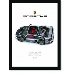 Quadro Poster Porsche 911 2010 997 GT2 RS