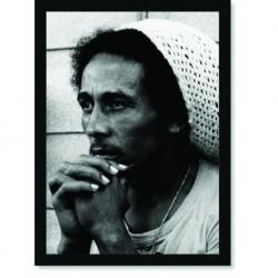 Quadro Poster Grandes Nomes da Música Bob Marley