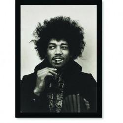 Quadro Poster Grandes Nomes da Música Jimmi Hendrix 1