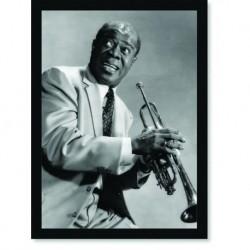Quadro Poster Grandes Nomes da Música Louis Armstrong 1