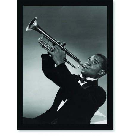 Quadro Poster Grandes Nomes da Música Louis Armstrong 2