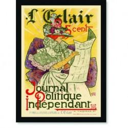 Quadro Poster The Belle Epoque Journal Politique