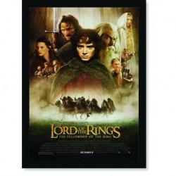 Quadro Poster Cinema Filme Senhor dos Aneis A Socidade do Anel
