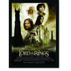 Quadro Poster Cinema Filme Senhor dos Aneis As Duas Torres