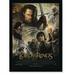 Quadro Poster Cinema Filme Senhor dos Aneis O Retorno do Rei