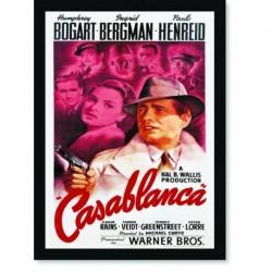 Quadro Poster Cinema Filme Casablanca