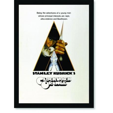 Quadro Poster Cinema Filme Laranja Mecanica