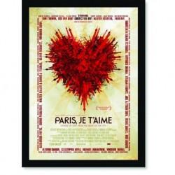Quadro Poster Cinema Filme Paris Je Taime