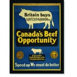 Quadro Poster Propaganda Canadas Beef Opportunity