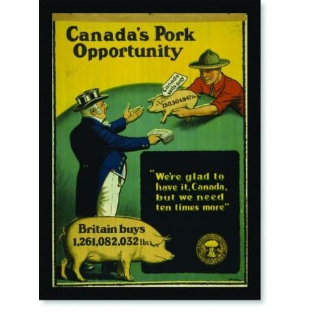 Quadro Poster Propaganda Canadas Pork Opportunity
