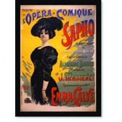 Quadro Poster Propaganda Opera Comique Sapho