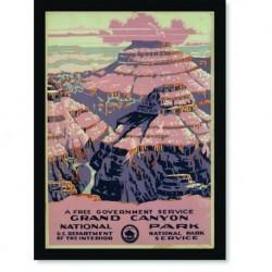 Quadro Poster Propaganda Grand Canyon