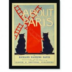 Quadro Poster Propaganda About Paris