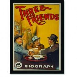 Quadro Poster Propaganda Three Friends Biograph