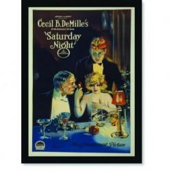 Quadro Poster Propaganda Saturday Night