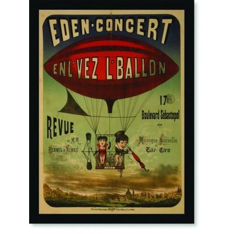 Quadro Poster Propaganda Eden Concert