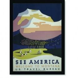 Quadro Poster Propaganda See America