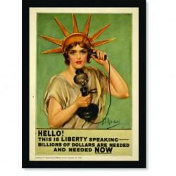 Quadro Poster Propaganda Hello Liberty