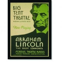 Quadro Poster Propaganda Big Tent Theatre