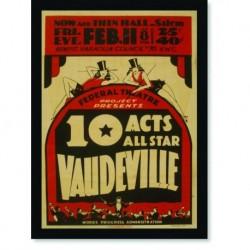 Quadro Poster Propaganda Vaudeville