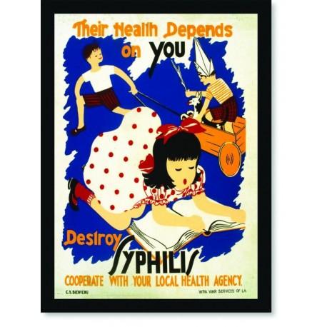 Quadro Poster Propaganda Desloy Syphilis
