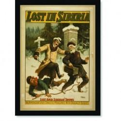 Quadro Poster Propaganda Lost in Siberia