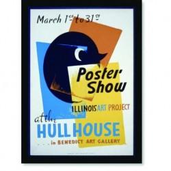 Quadro Poster Propaganda Show Hullhouse