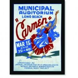 Quadro Poster Propaganda Carmen Long Beach