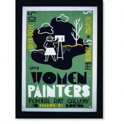 Quadro Poster Propaganda Women Painters