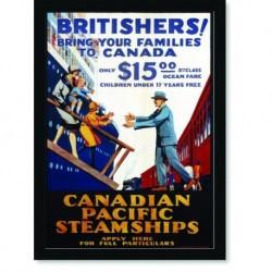 Quadro Poster Propaganda Canadian Pacific Steamships
